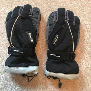 Ski Gloves Men's Waterproof Black & Gray N…